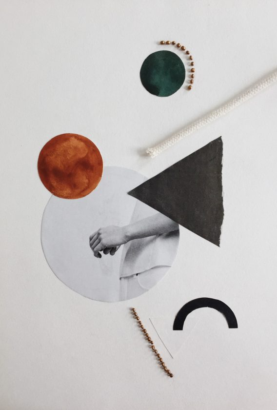 Daisy Ranoe collage mixed media